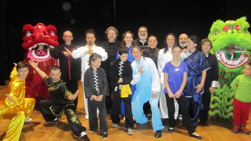 Wushu taichi en Gijón por el año nuevo chino 2017
