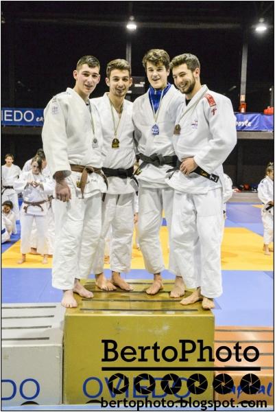 Gran nivel de los judokas junior asturianos en el Cto. de Asturias.