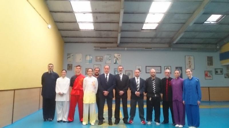 Cintos Negros y Arbitraje wushu (artes marciales chinas) 2018.