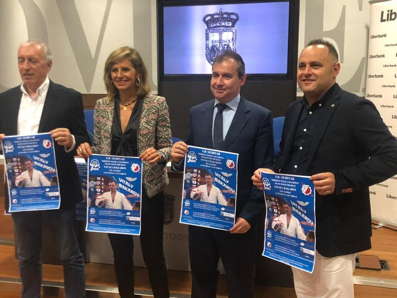 La Federación Asturiana de Judo y el Ayuntamiento de Oviedo presentan el curso de Vitaly Makarov